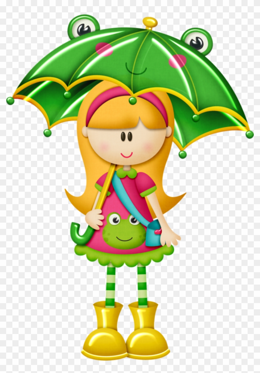 April Showers - Kids With Umbrella Clipart #109292