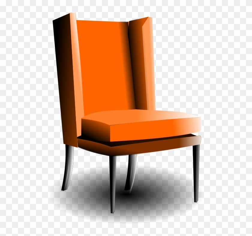Old Fashioned Armchair 555px - Orange Chair Clipart #109371