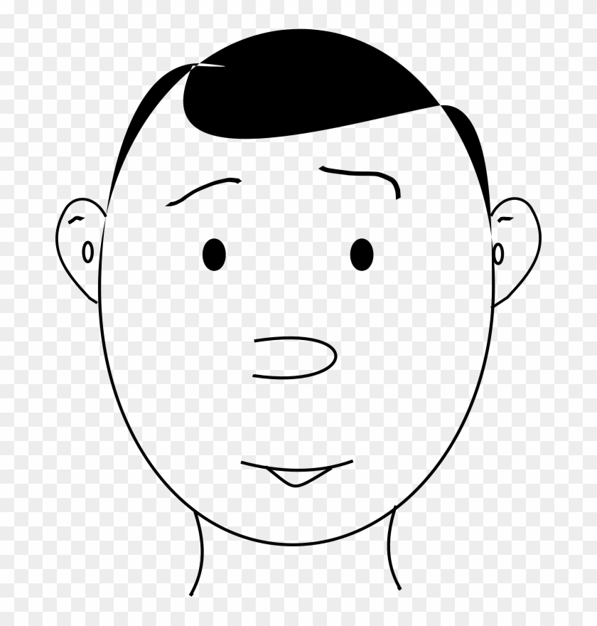 Get Notified Of Exclusive Freebies - Human Face Outline #109426