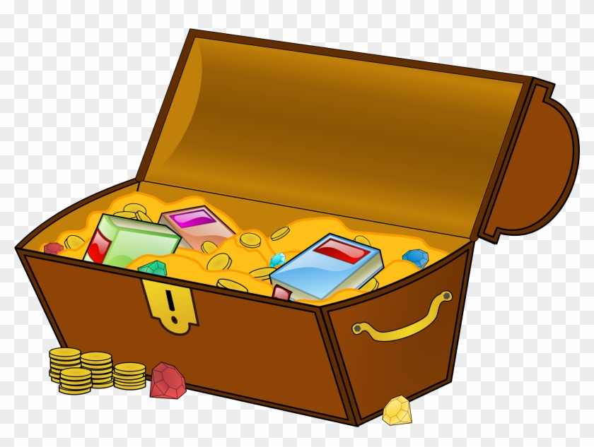 Big Image - Treasure Chest With Books #109601