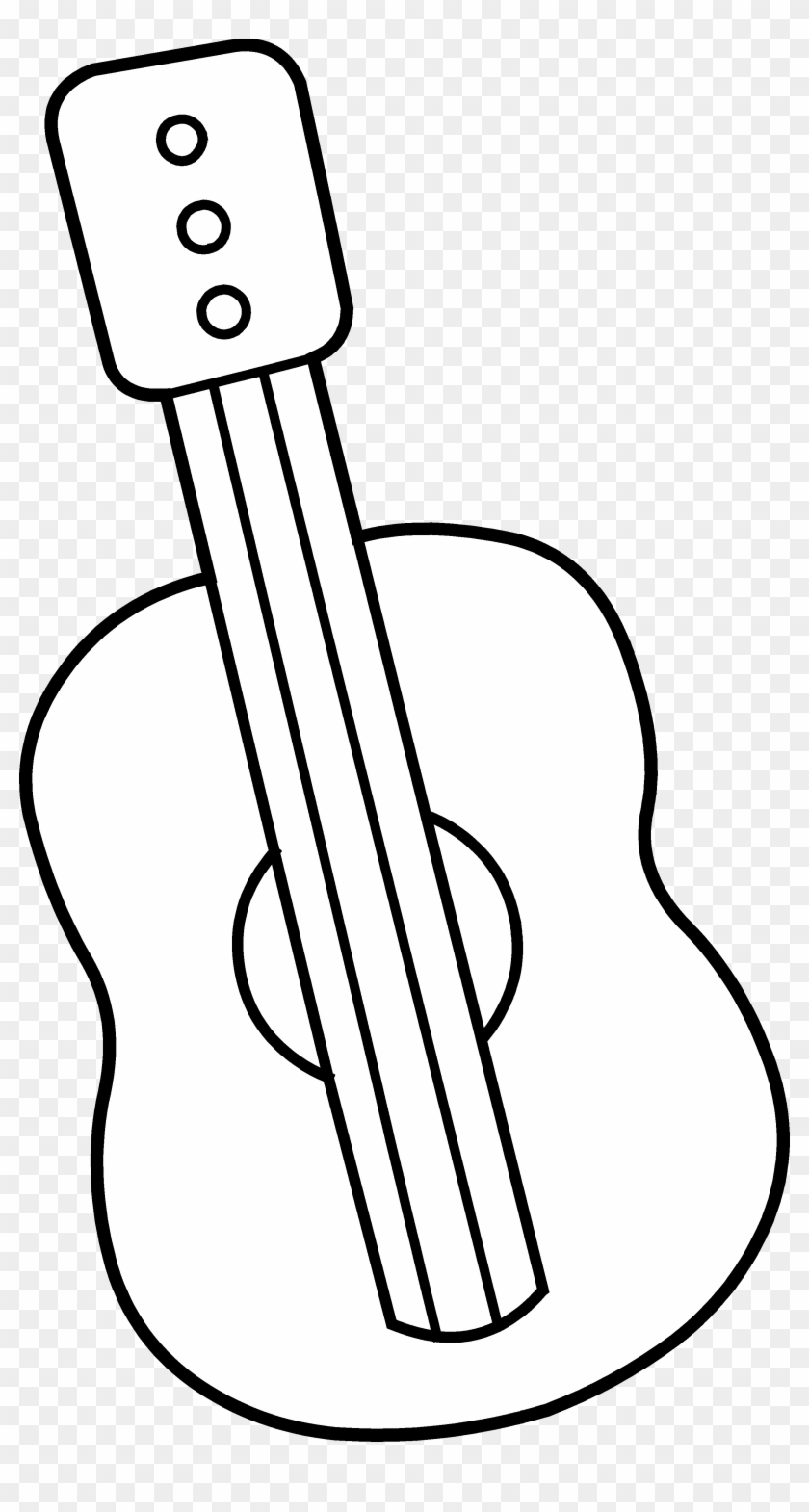 Black Guitar Black And White Cartoons Free Transparent Png Clipart Images Download
