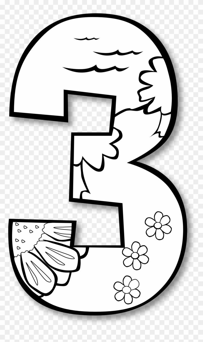 Number 2 Clip Art - Third Day Of Creation Coloring Page #109915