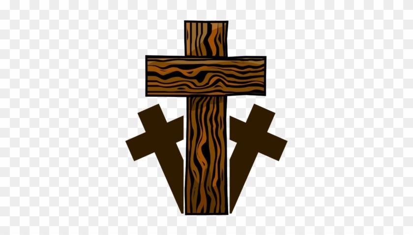 Image Three Wooden Crosses Cross Image Wood Cross Clipart