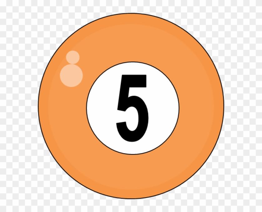 Teacher Clip Art Balls - Number 4 Billiard Balls #110262
