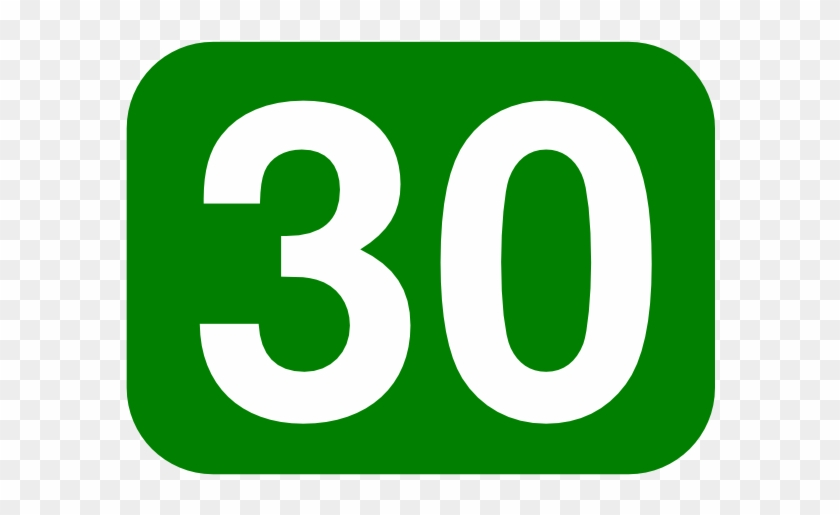 Free Vector Green Rounded Rectangle With Number 30 - Number 30 Green #110554