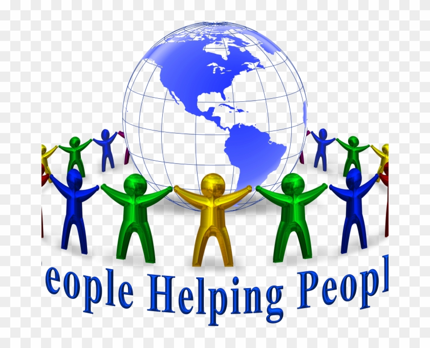 Free Clipart Helping Others - Mmm Together We Change The World #110697