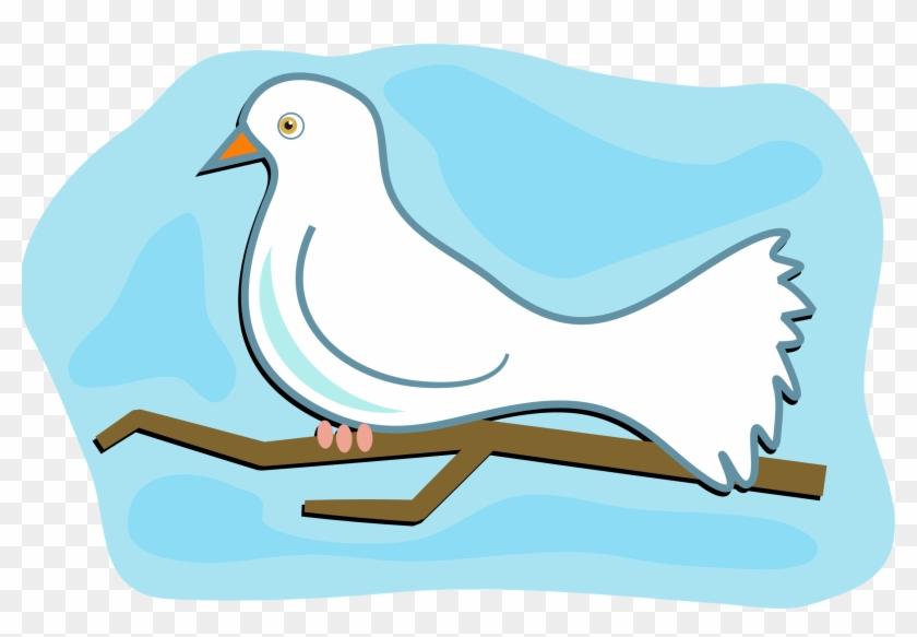 White Dove Clipart Cartoon - Dove Clipart #110705