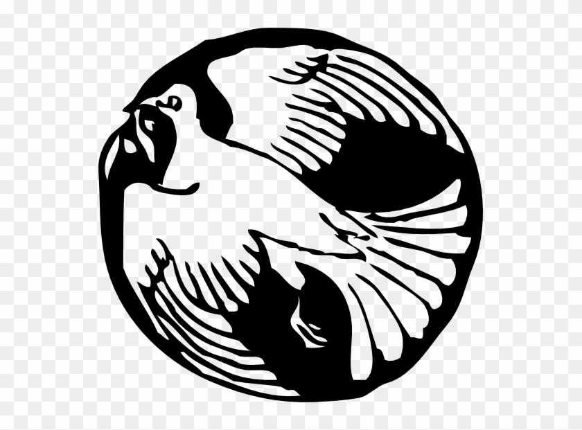 » Clip Art » Dove In Circle Black White Line Art Svg - Dove Clip Art #110719