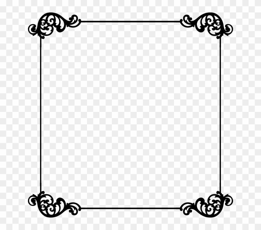 Free Border Templates - Black Swirl Border Square #110886