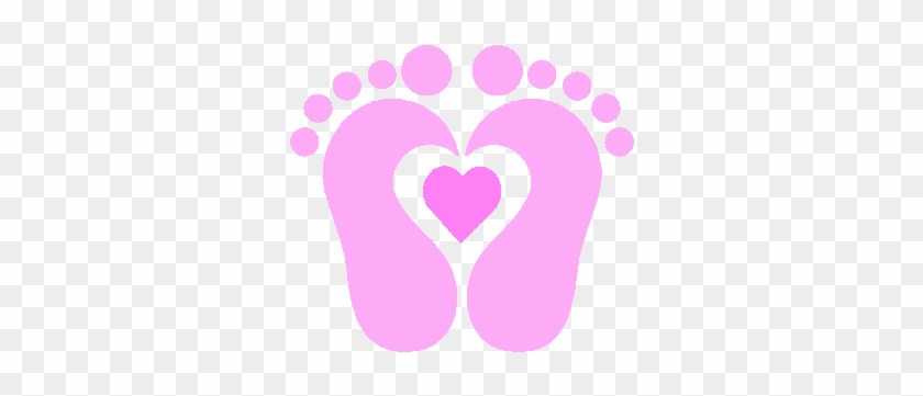 Baby Shower Animal Clip Art Baby Shower Invitations - Pink Baby Foot Print #110950