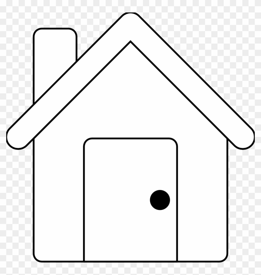 House Line Art Free Vector - Outlines Of A House #111570