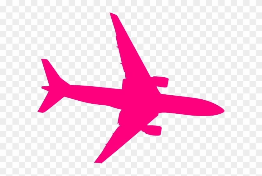 Pink Plane Clip Art At Clker Com Vector Online Royalty - Plane Vector #111966