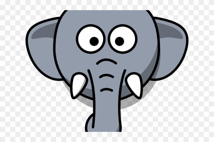 Elephant Face Cliparts - Cartoon Elephant #589492