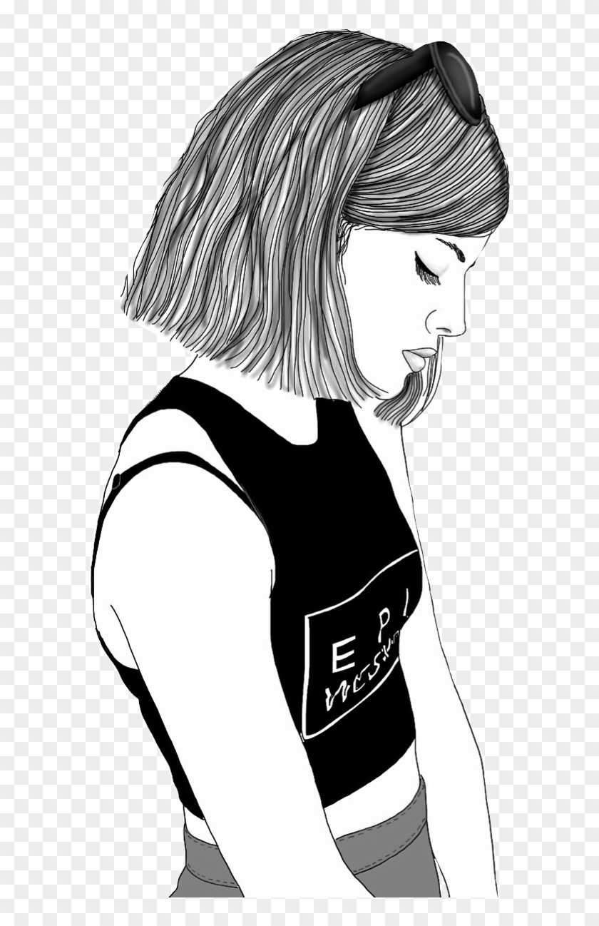 Report Abuse Girl Cartoon Drawing Black And White Free