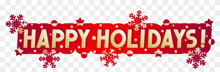 Happy Holidays Clip Art Banner - American Heart Association Christmas Health Statistics #591986