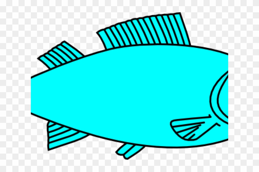 Teal Fish Cliparts - Fish Clipart Black And White #592124