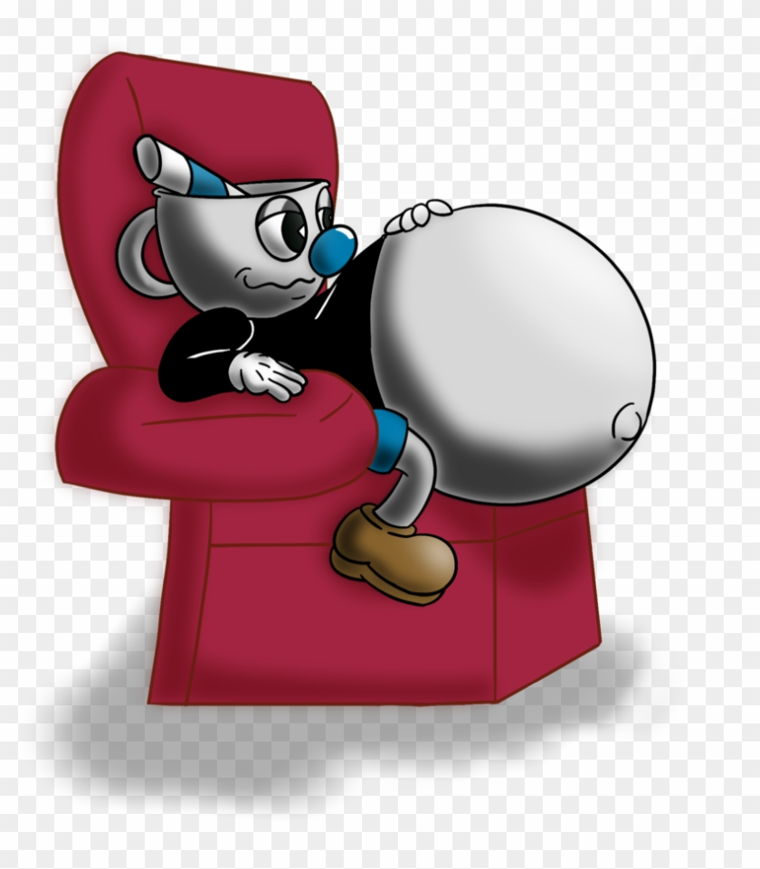 Mug Man In The Comfy Chair By Spazknot - Cuphead And Mugman Inflation #593168