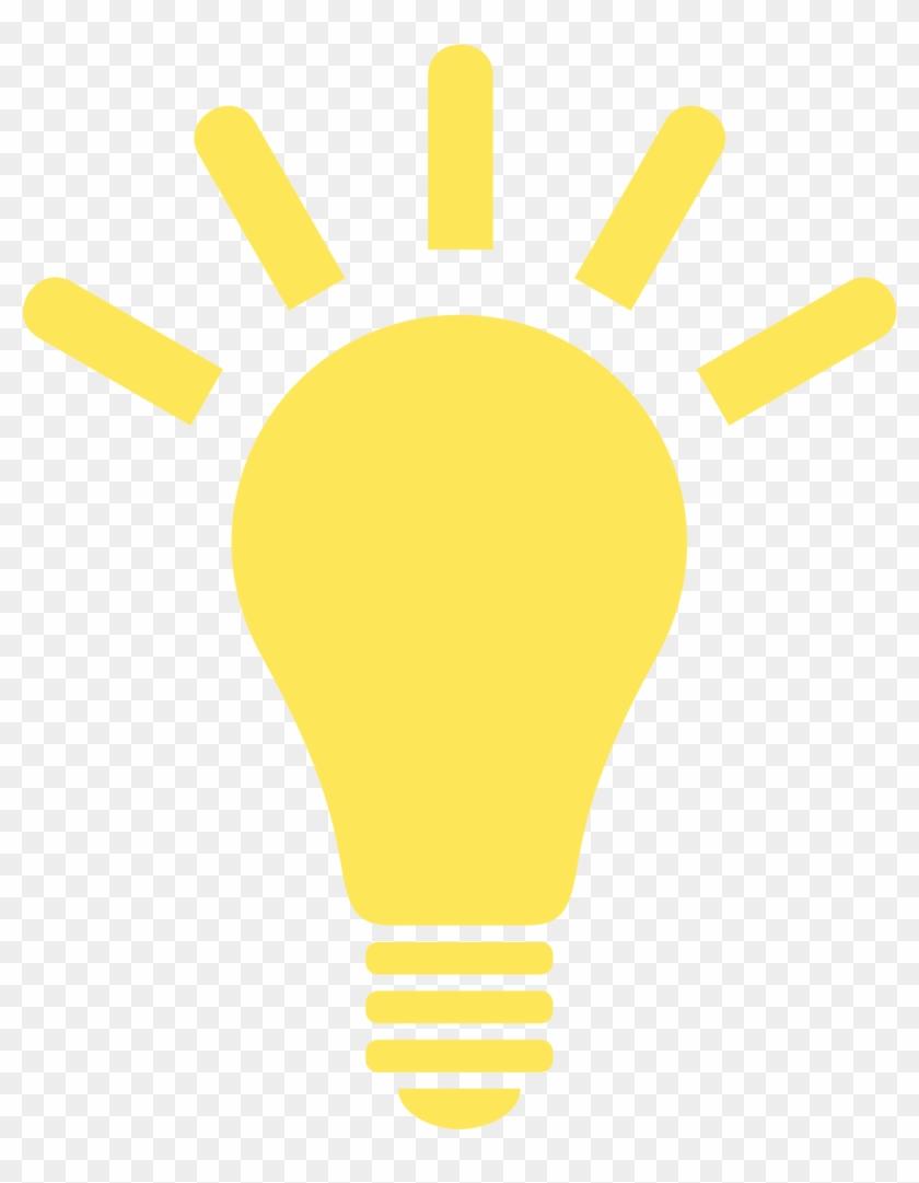 Yellow Lightbulb Clipart - Light Bulb Png Icon #593286