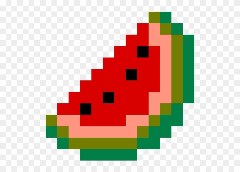 Watermelon Easy Pixel Art Grid Free Transparent Png Clipart Images Download