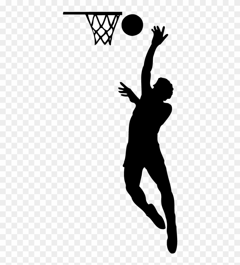 T Shirt Basketball Player Sport Sneakers - Basketball Player Silhouette Png #593586