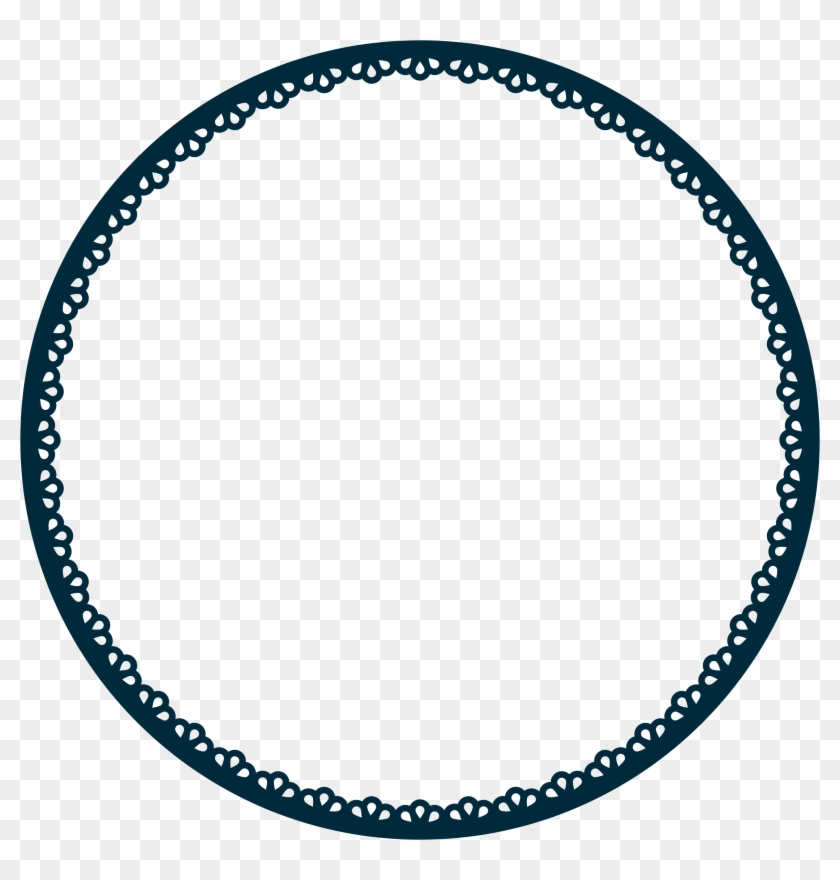 Scallop Frame Extrapolated Variation 2 - Scalloped Circle