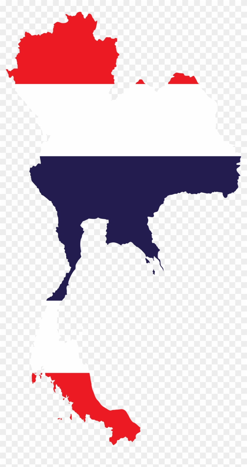 Thailand Map Flag - Vector Map Thailand - Free Transparent PNG ...