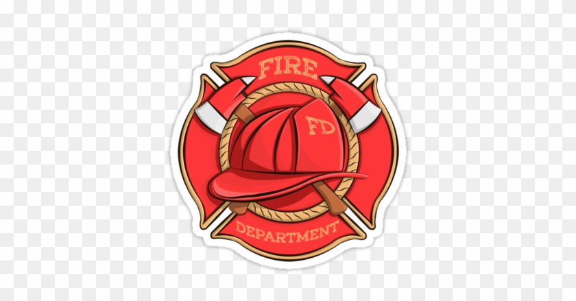 Firefighter's Badge Stickers By Anmgoug On Redbubble