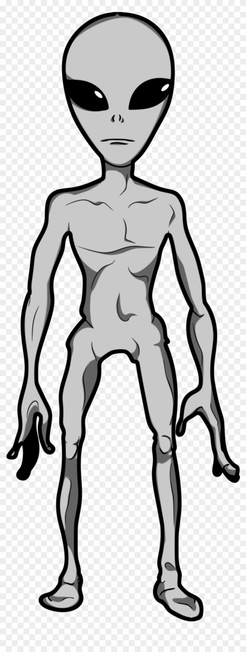 Space Clipart Grey Alien - Alien Full Body Drawing #596373