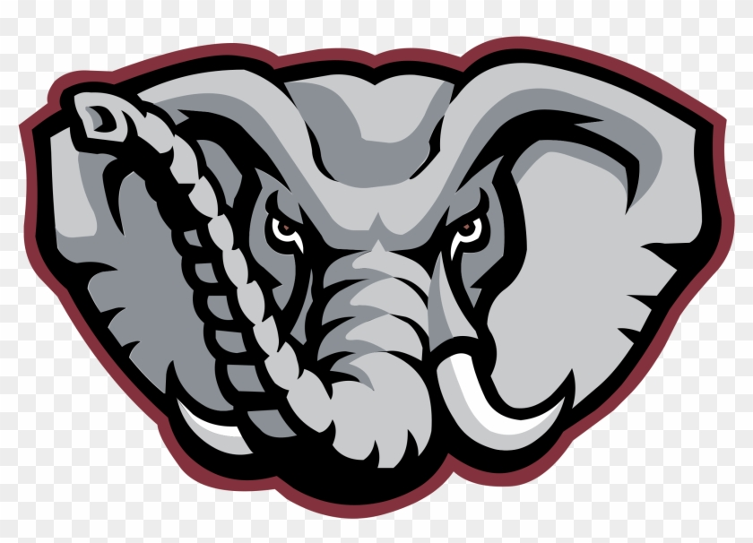 Alabama Crimson Tide Logo Png Transparent - Alabama Crimson Tide Elephant Logo #596557