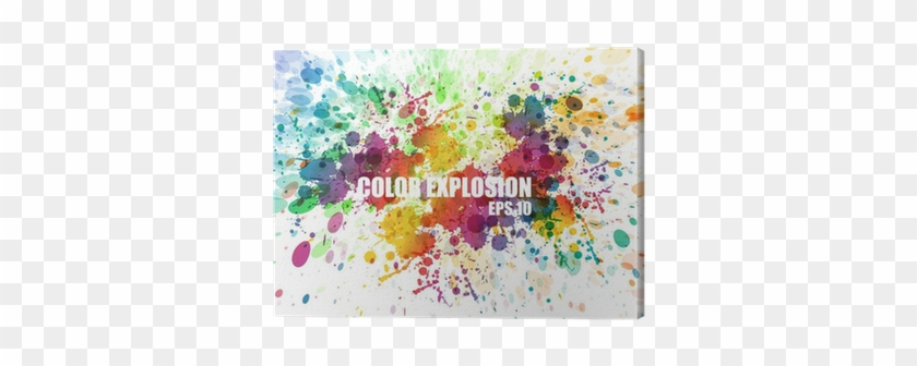 Abstract Colorful Splash Watercolor Background Canvas - Color Splash Background #597730