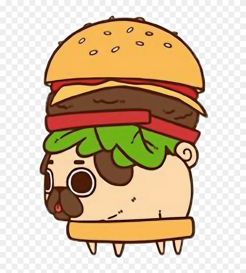 Report Abuse - Pug In A Hamburger #598427
