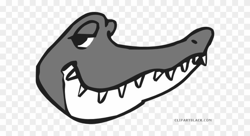 Alligator Head Animal Free Black White Clipart Images - Alligators #598634