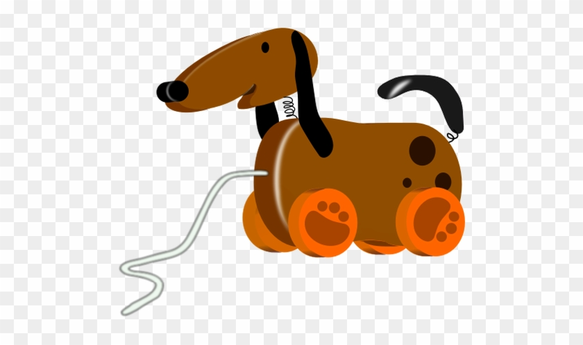 Dog Pull Toy Vector Image - Toy Dog Clipart #599009