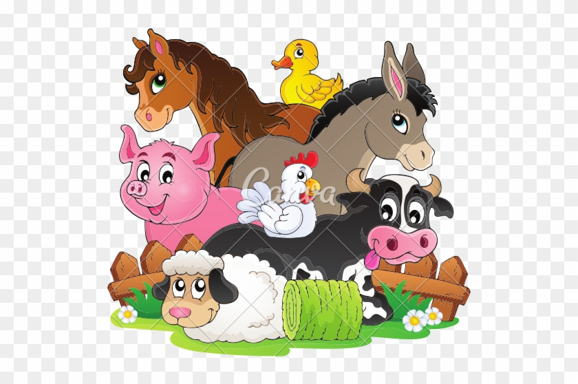Farm Animals Clipart Farm Community - Cartoon Images Of Farm Animals #599196