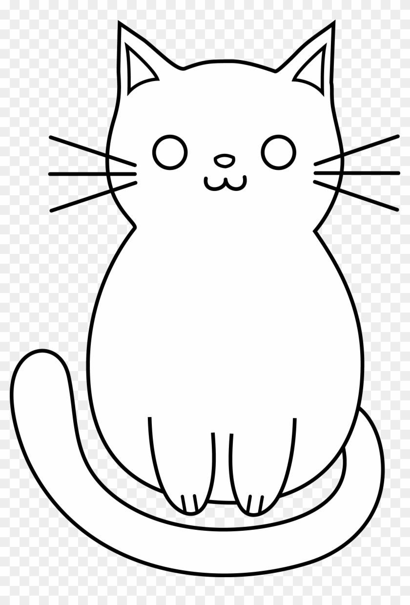 Cute Dog And Cat Clipart - Cute Cat Cartoon #599504