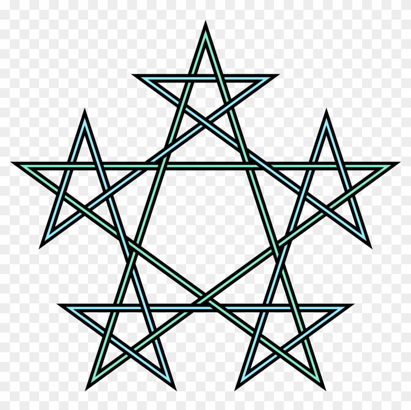 Open - Geometric Pentagram Tattoo #600476