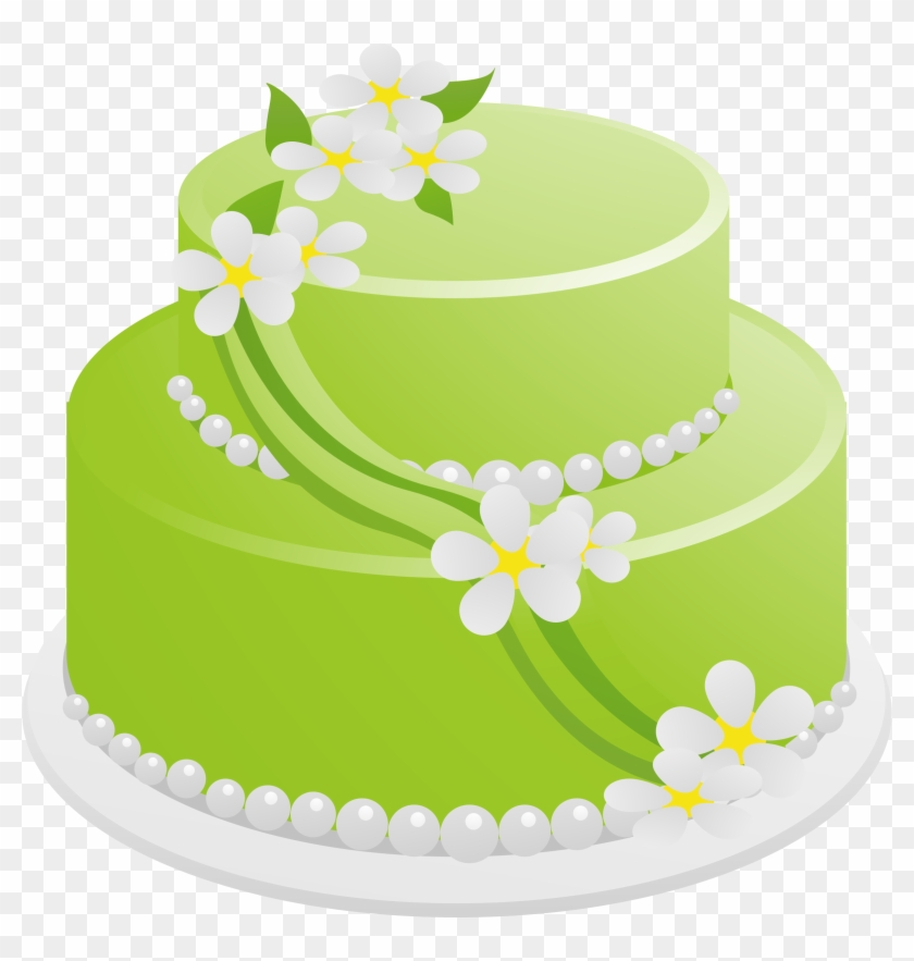 Birthday Cake On Fire Clipart Download - Birthday Cake Green