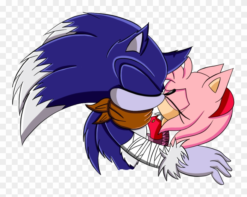 Sonic The Werehog And Amy Rose Kissing Sonic Boom Sonam Sonic Boom Free Transparent Png Clipart Images Download