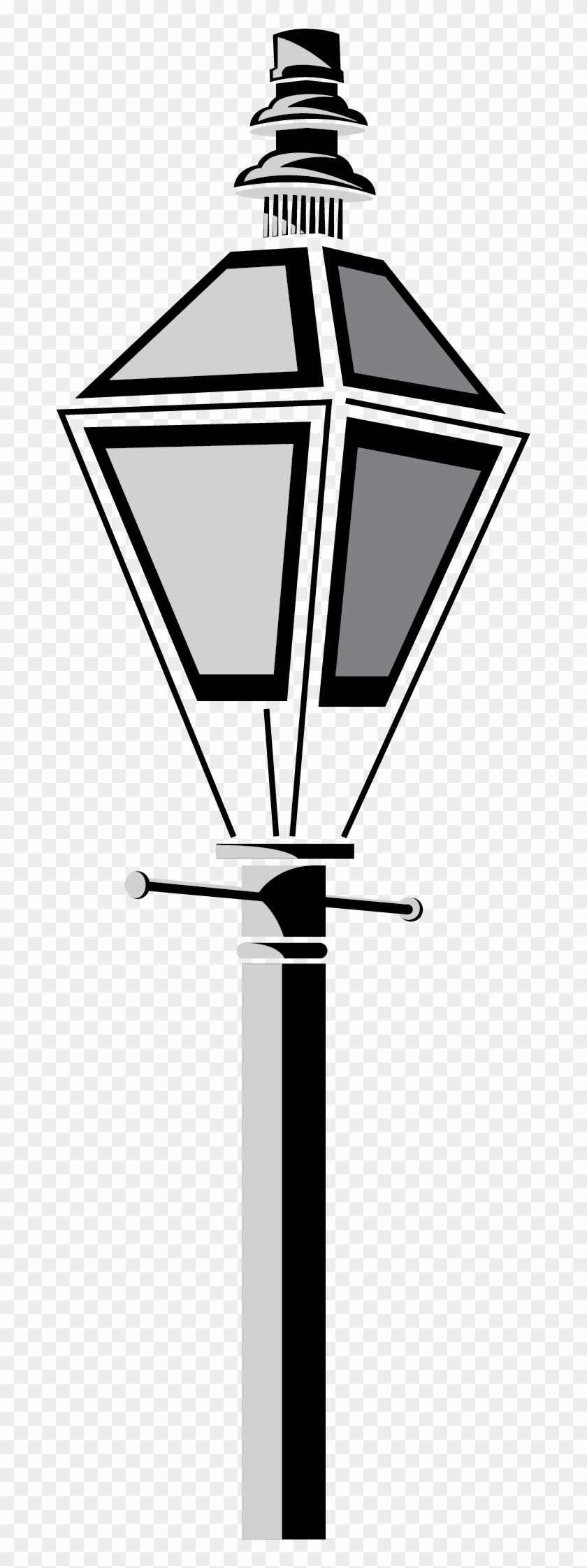 New Orleans Lamp Post Vector Clip Art - Street Light - Free