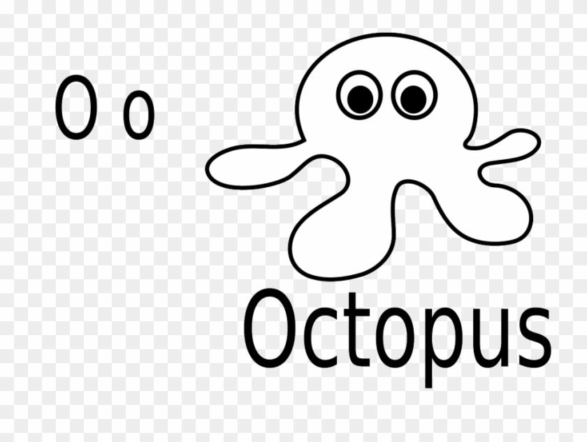 Cartoon Octopus For Coloring Book Stock Vector Izakowski - O For ...