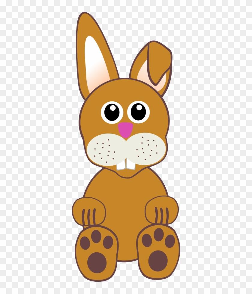 Funny Baby Bunny Sitting Png Clip Arts - Cartoon Rabbit Face #601168