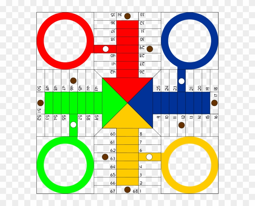 Parchis Board Png Clip Arts - Sorry Board Game Template #602202