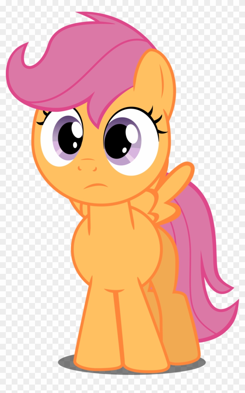Scootaloo In Perplexity By Felix Kot Mlp Scootaloo Front View