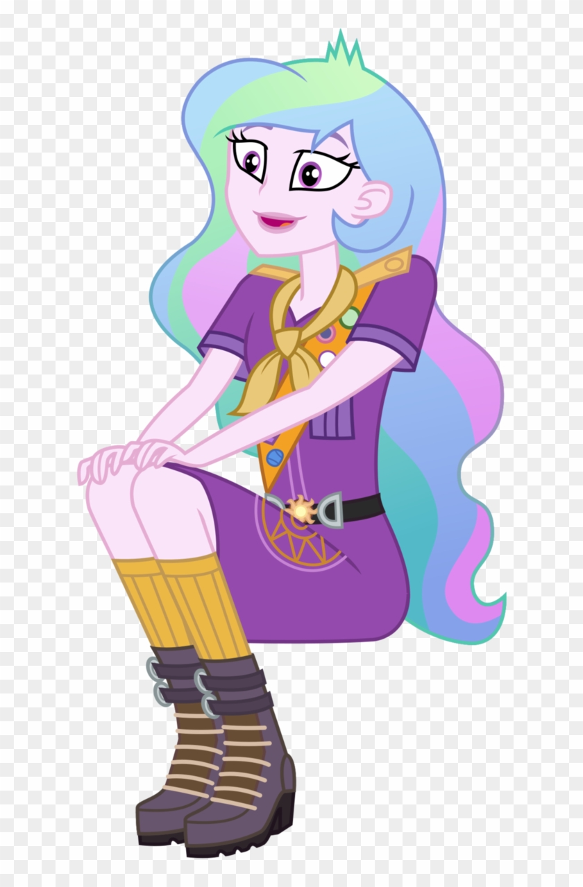 Camp Everfree Celestia By Sketchmcreations - Principal Celestia Camp Everfree #602514