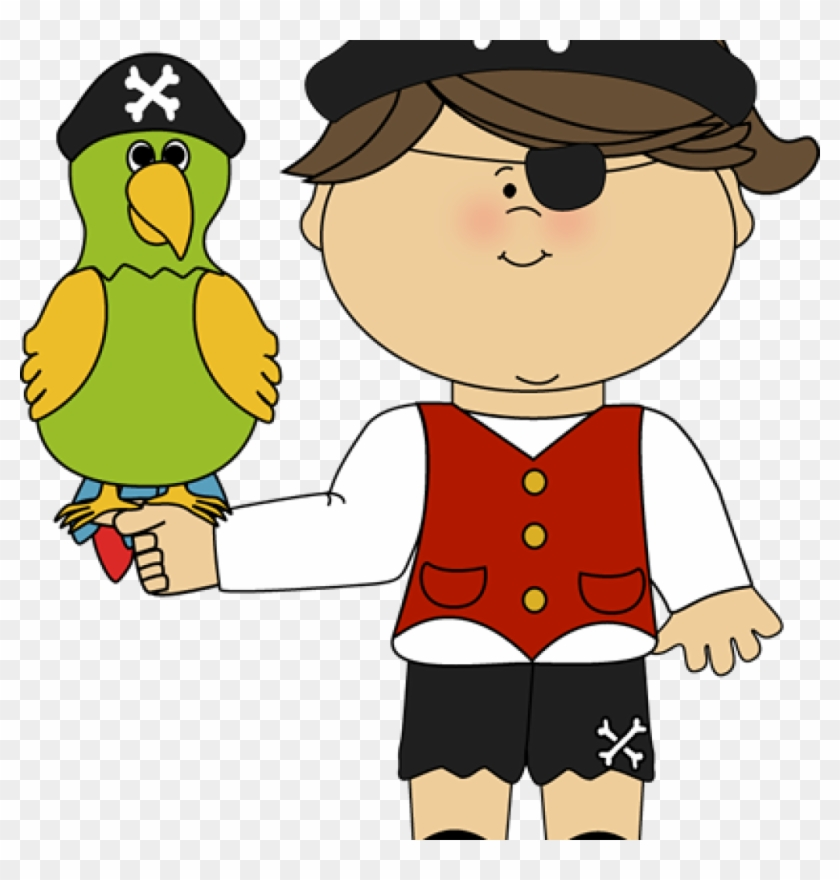 Pirate Clipart Pirate Girl With Parrot Pirate Clip - Boy With Parrot Clipart #602936
