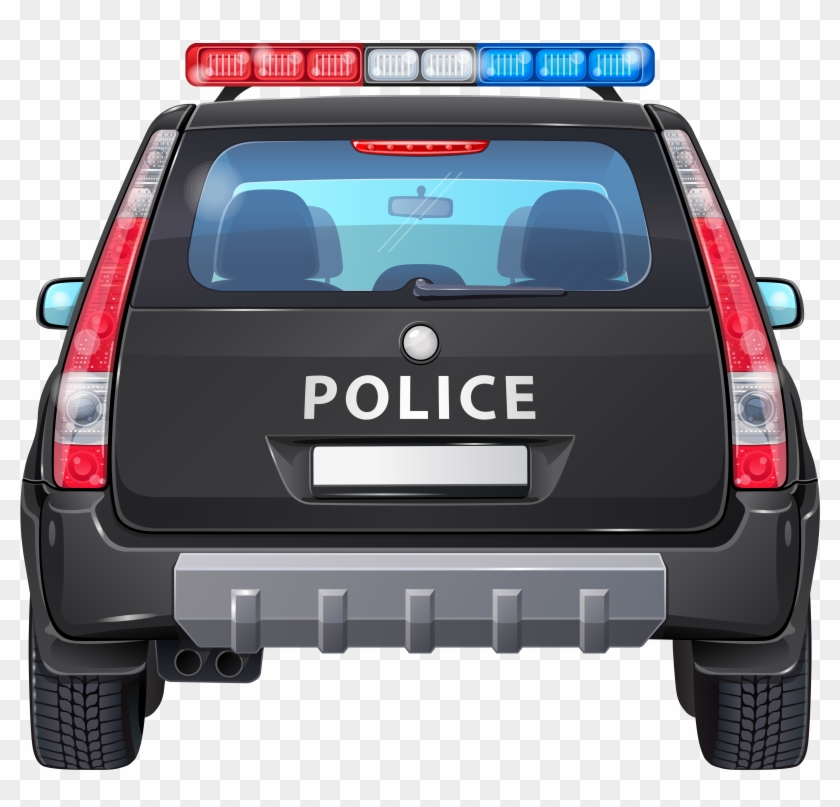 Police Car Back Png Clip - Back Of Police Car Clipart #603037
