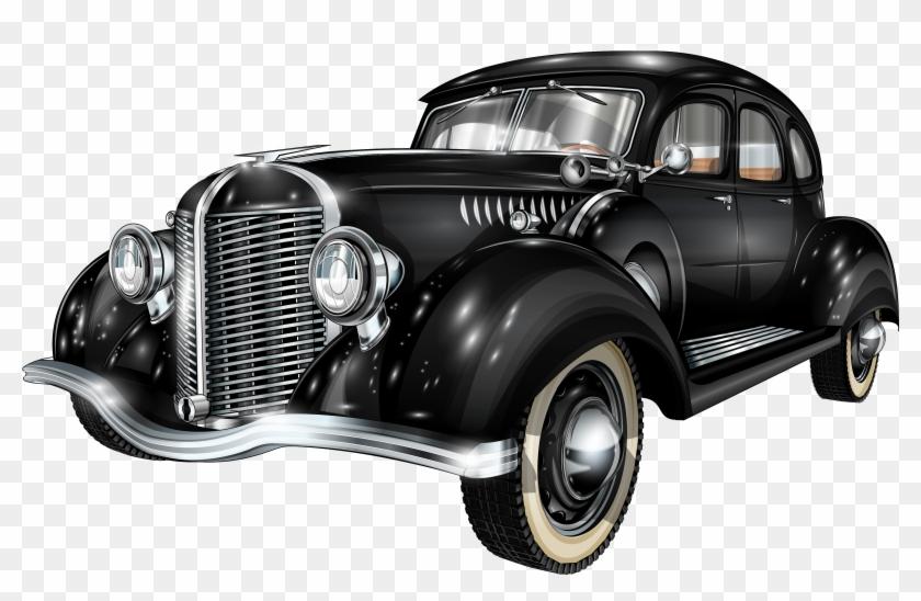 Old Car Clipart Png - Vintage Retro Car Vector #603098
