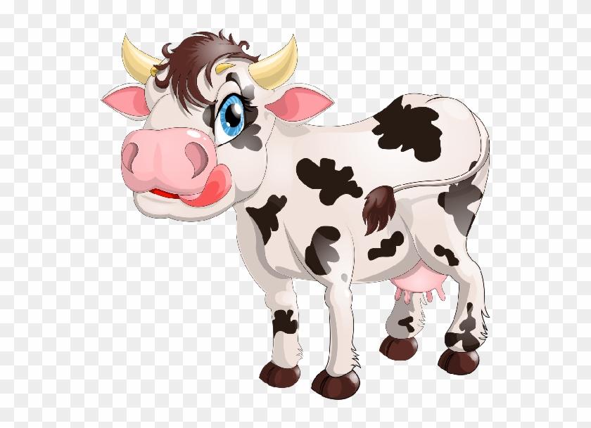 Cute Cartoon Farmyard Cows Clip Art Images - Dairy Cow Cow Milk Cartoon #603643