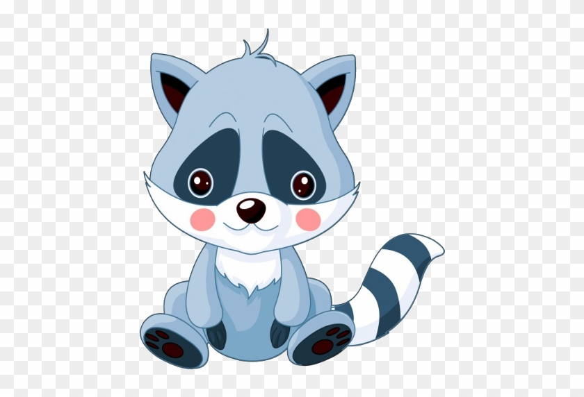Raccoon Cartoon Animal Images - Cute Baby Raccoon Drawing #604128