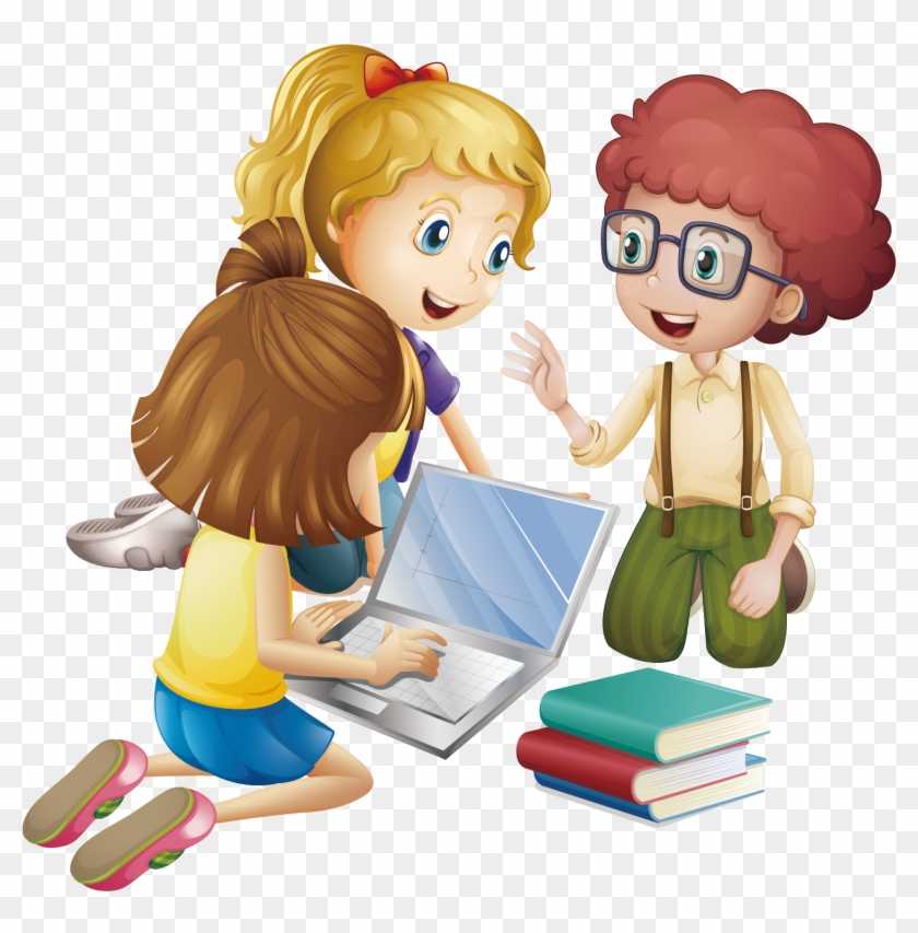 Student Cartoon Learning Education Animated Group Of Students Free Transparent Png Clipart Images Download